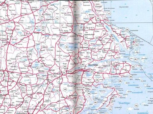 karta över roslagen